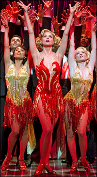 Sutton Foster and company in <i>Anything Goes</i>.