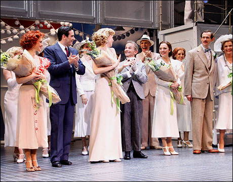 Jessica Stone, Colin Donnell, Sutton Foster, Joel Grey, Laura Osnes, Adam Godley and Jessica Walter