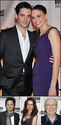Colin Donnell and Sutton Foster; guests Zach Braff, Jennifer Grey and Philip Bosco