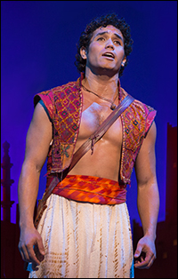 Adam Jacobs in <i>Aladdin</i>.