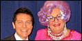Michael Feinstein and Dame Edna's All About Me Photo Op