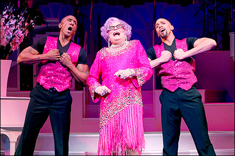 Gregory Butler, Dame Edna and Jon-Paul Mateo