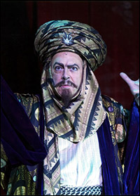Roger Allam in a recent panto production of <i>Aladdin</i>