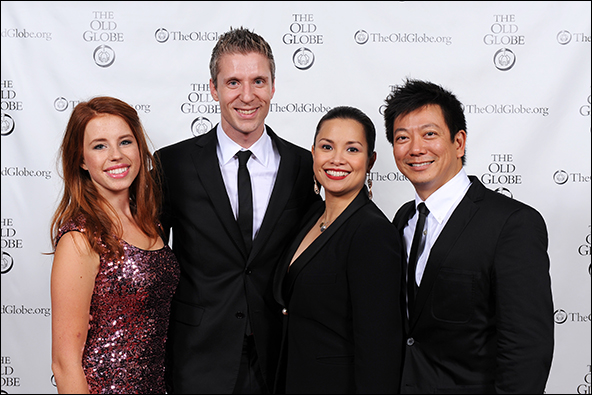 Allie Trimm, co-book writer Lorenzo Thione, Lea Salonga and composer, lyricist and co-book writer Jay Kuo