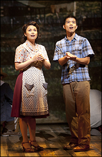 Lea Salonga and Telly Leung in <i>Allegiance</i> at The Old Globe.