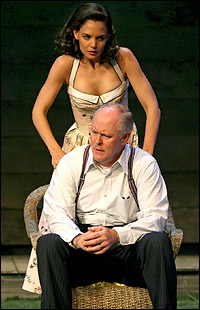 Katie Holmes and John Lithgow in <I>All My Sons</I>