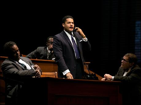 Brandon J. Dirden with J. Bernard Calloway, William, Jackson Harper and Ethan Phillips