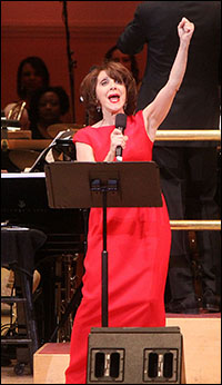 Andrea Martin performs at the New York Pops gala