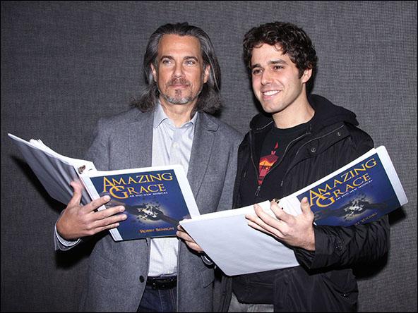 Robby Benson and Josh Young