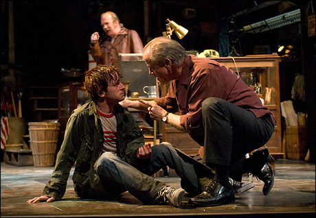 Patrick Andrews and Francis Guinan (foreground) with Tracy Letts