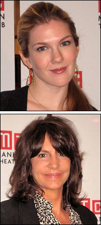 Lily Rabe (top) and Mercedes Ruehl