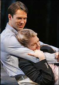 Kieran Campion and Lily Rabe in <I>The American  Plan</I>.