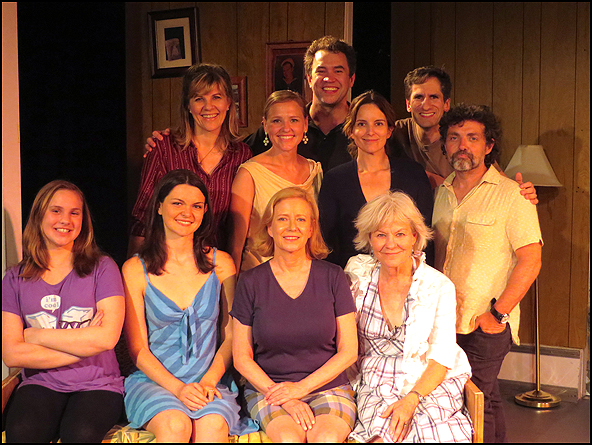 Tina Fey, Seth Rudetsky and Jeff Richmond with the company of Unbroken Circle
