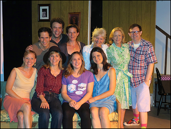 Seth Rudetsky, Ana Gasteyer and the cast of Unbroken Circle