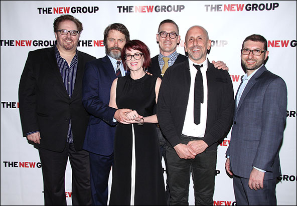 Bart DeLorenzo, Nick Offerman, Megan Mullally, Sharr White, Scott Elliott and Adam Bernstein
