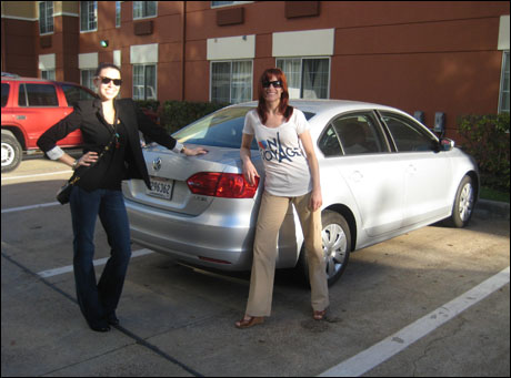These are my car mates – Nikol Wolf and Tess Ferrell.