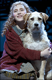 Lilla Crawford and Sunny in the Broadway production.