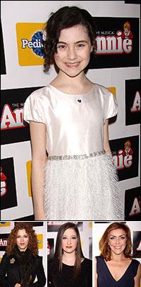 Lilla Crawford; guests Bernadette Peters, Andrea McArdle and Marissa O