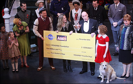 Tierney Monaco and Julie Duke of Pedigree present the check