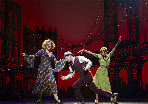 Katie Finneran, Clarke Thorell and J. Elaine Marcos in Annie, Nominated for Best Revival of a Musical