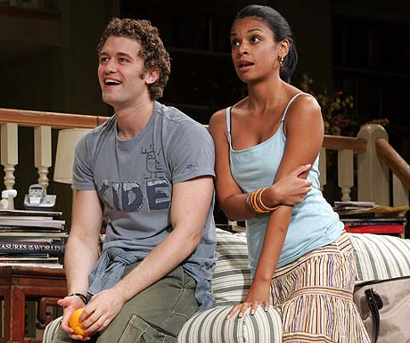 Matthew Morrison and Susan Kelechi Watson in A Naked Girl on the Appian Way