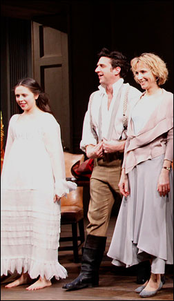 Bel Powley, Raul Esparza and Lia Williams