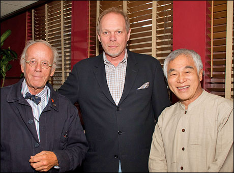 Eugene Lee, managing director Edgar Dobie and architect Bing Thom