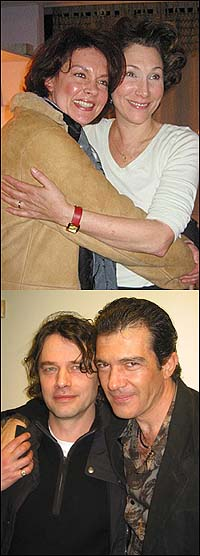 Top: Michele Pawk (left) and Randy Graff, Bottom: David Leveaux (left) and Antonio Banderas