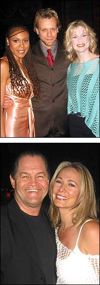 Top: Deborah Cox (left), Adam Pascal, and Lisa Brescia, Bottom: Mickey Dolenz and wife Donna