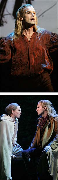 From Top: Hugh Panaro; Carolee Carmello and Hugh Panaro in <I>Lestat</I>.