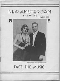The original Playbill for <I>Face the Music</I>.