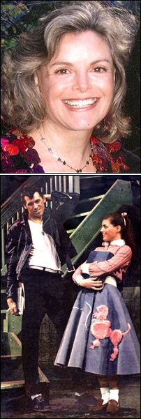 Carole Demas and Barry Bostwick in the original production of <I>Grease</I>
