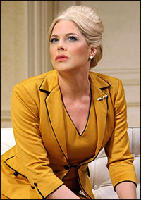 Mary McCormack as Gretchen in <I>Boeing-Boeing</I>.