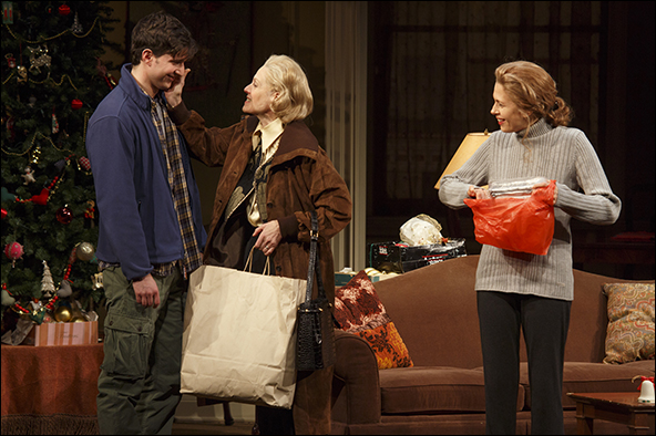 Jake Silbermann, Judith Light and Jessica Hecht in the Broadway production The Assembled Parties.