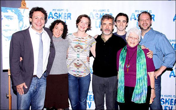 Gordon Edelstein, Naama Potok, Jenny Bacon, Mark Nelson, Ari Brand, Adena Potok and Aaron Posner