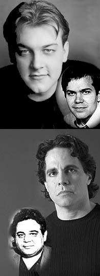<I>Assassins</I> Alexander Gemignani (inset Hinckley) and Mario Cantone (Byck).