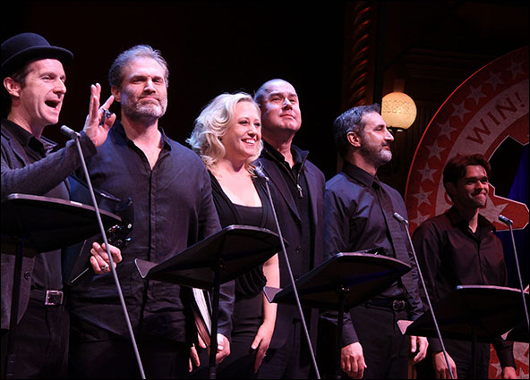 Denis O'Hare, Marc Kudisch, Sally Wilfert, Merwin Foard, Ken Krugman and Chris Peluso