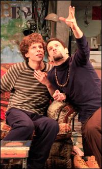 Jesse Eisenberg and Justin Bartha