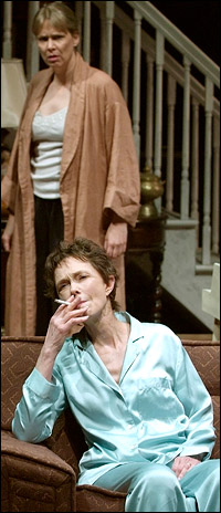 Amy Morton and Deanna Dunagan in <i>August: Osage County</i>.