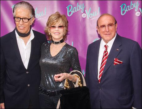 Richard Perry, Jane Fonda and Clive Davis
