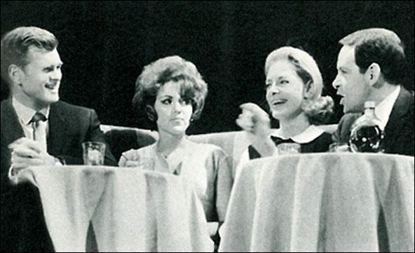 Barry Nelson, Brenda Vaccaro, Lauren Bacall and Burt Brinckerhoff in Cactus Flower