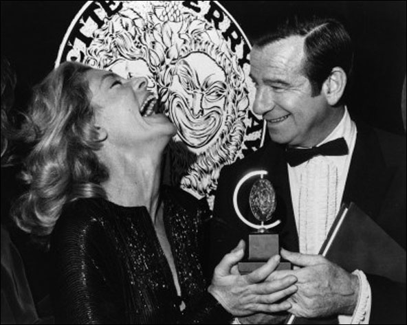 Lauren Bacall and Walter Matthau at the 1970 Tony Awards.