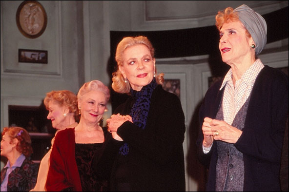 Rosemary Harris, Lauren Bacall and Rosemary Murphy, closing night curtain call for Waiting in the Wings