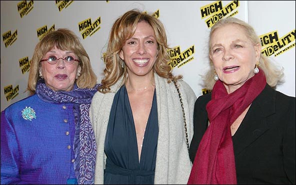Phyllis Newman, Amanda Green and Lauren Bacall, High Fidelity opening night, Dec. 6, 2006