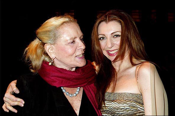 Lauren Bacall and Donna Murphy, Wonderful Town opening night party, Nov. 23, 2003