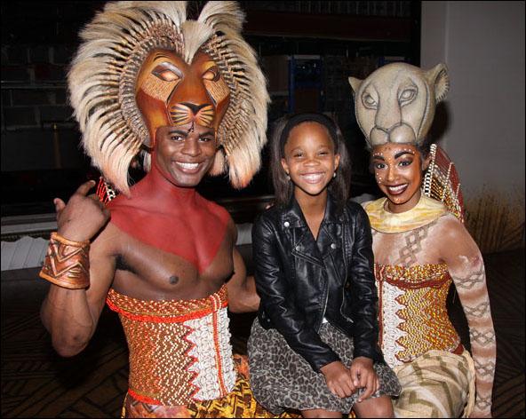 Andile Gumbi, Quvenzhané Wallis and Chantel Riley