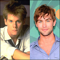 Kevin Bacon (left) and Chace Crawford