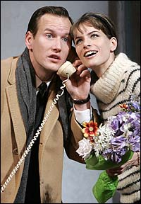Patrick Wilson and Amanda Peet in <I>Barefoot in the Park</I>.