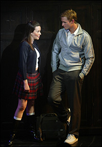 Jenna Leigh Green and John Hill in the 2004 production of <i>Bare</i>.