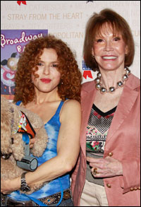 Bernadette Peters and Mary Tyler Moore at Broadway Barks! 12